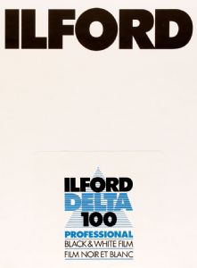 "Ilford Delta 100 4x5"" Sheet Film 25 Pack Black & White Large Format Film"